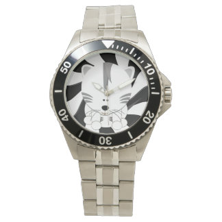 White Tiger Cub Classic Stainless Steel Watch