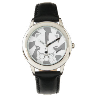 White Tiger Cub Kids Stainless Steel Watch