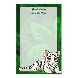 White Tiger Cub Stationery