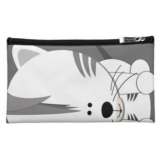 White Tiger Cub Sueded Medium Cosmetic Bag