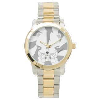 White Tiger Cub Two Tone Watch