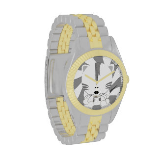 White Tiger Cub Two Tone Watch