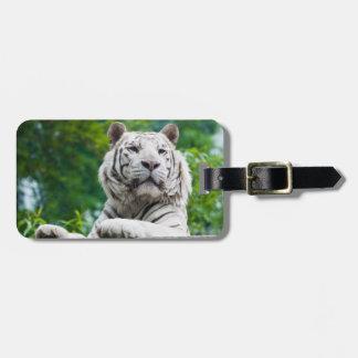 White Tiger  custom luggage tag