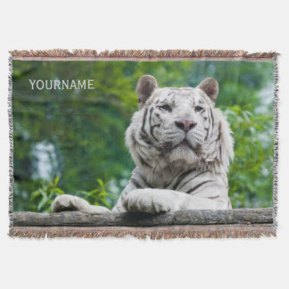 White Tiger custom throw blanket