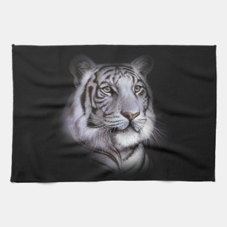 White Tiger Face Tea Towel