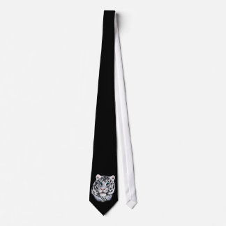 White Tiger Face Tie