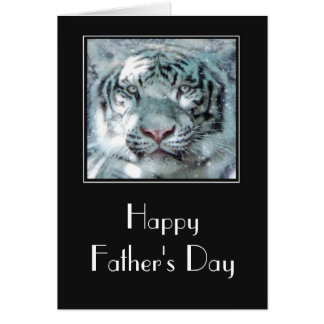 White Tiger Father's Day Greeting Card
