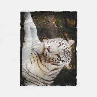 White Tiger Fleece Blanket