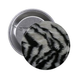 White Tiger Fur Pinback Buttons