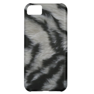 White Tiger Fur Case For iPhone 5C