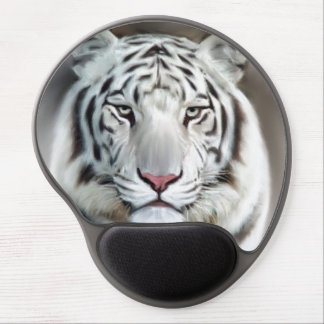 WHITE TIGER GEL MOUSE MAT
