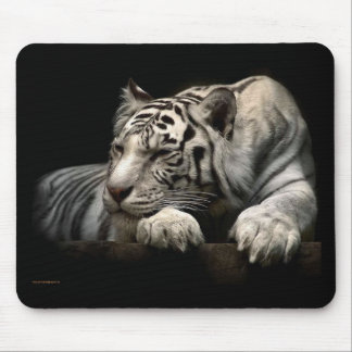 white+tiger+gifts mouse mat