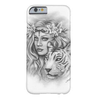 White Tiger Girl Flower Phone Case