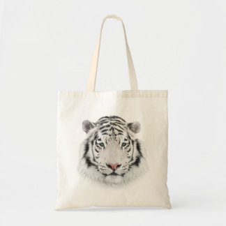 White Tiger Head Budget Tote Bag