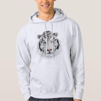 White Tiger Head Hoodie