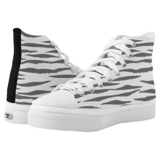 White Tiger high top tennis shoes