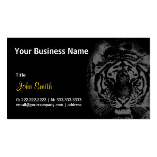 White Tiger in Night business card