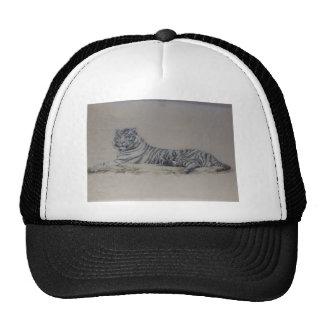 White Tiger in Repose Trucker Hats