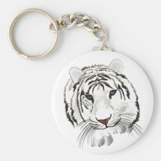 White Tiger Key Chain