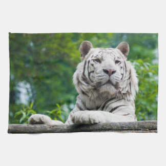 White Tiger kitchen towels