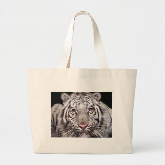 White Tiger Large Tote Bag