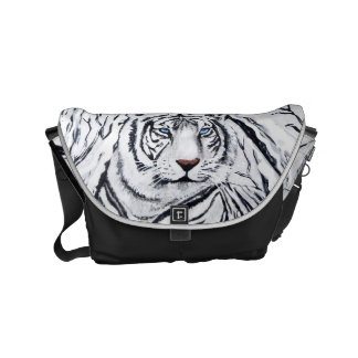 White Tiger Messenger Bag