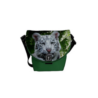 White Tiger Mini Messenger Bag
