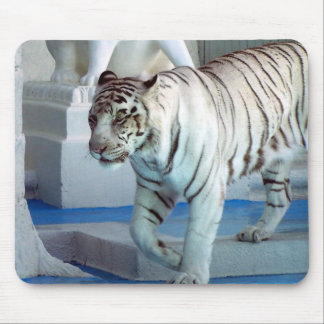 White Tiger Mouse Mat