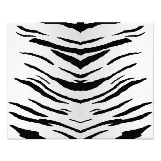 White Tiger or Zebra Striped Photo