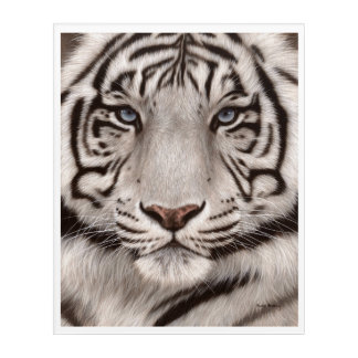 White Tiger Painting Acrylic Wall Art