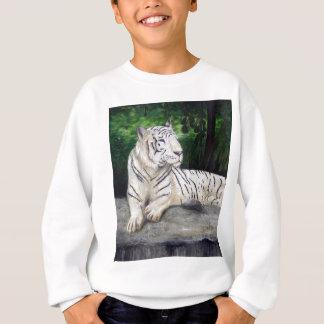 White Tiger painting by Ben Jones Sweatshirt