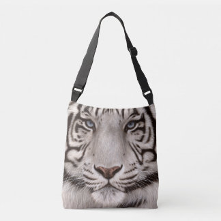 White Tiger Painting Crossbody Bag