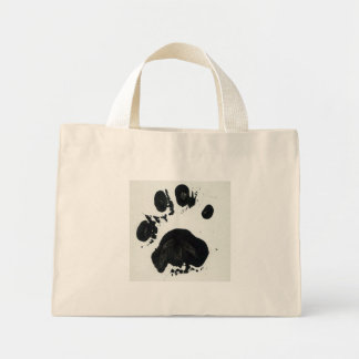 White Tiger Paw Print Mini Tote Bag