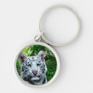 White Tiger Premium Keychain
