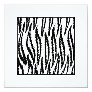 White Tiger Print. Tiger Pattern. 13 Cm X 13 Cm Square Invitation Card