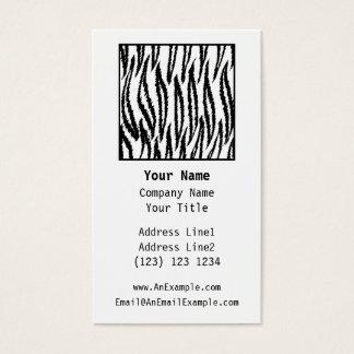 White Tiger Print. Tiger Pattern. Business Card