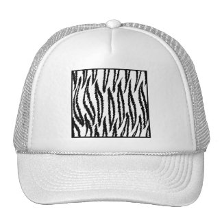 White Tiger Print. Tiger Pattern. Trucker Hat