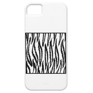 White Tiger Print. Tiger Pattern. iPhone 5 Cover