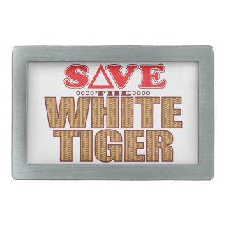 White Tiger Save Belt Buckle