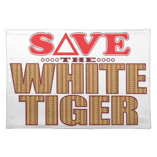 White Tiger Save Placemat