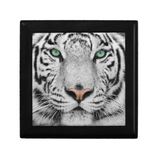 White Tiger Small Square Gift Box