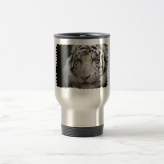 White Tiger Stainless Steel Travel Mug