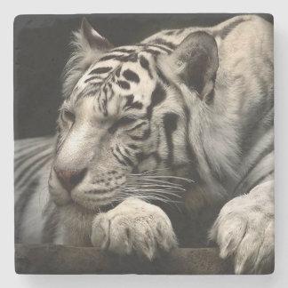 White Tiger Stone Coaster