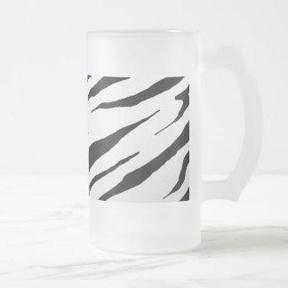 White Tiger Stripe Frosted Mug