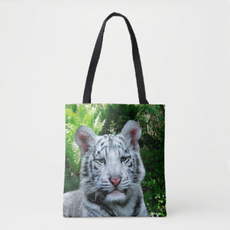White Tiger Tote Bag