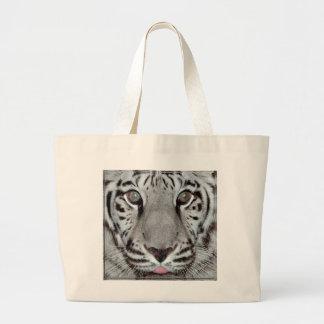 White Tiger Jumbo Tote Bag
