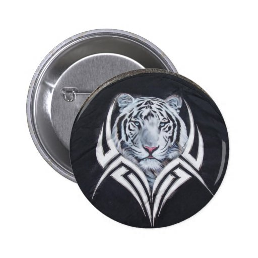 White Tiger Tribal Pins