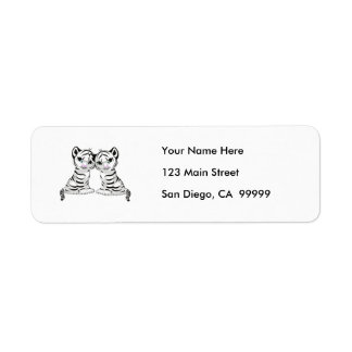 White Tiger Twins Return Address Label