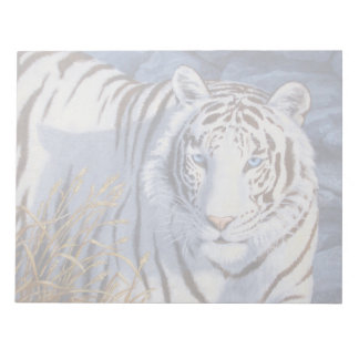 White Tiger with Blue Eyes Notepad