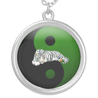 White Tiger Ying-Yang Necklace